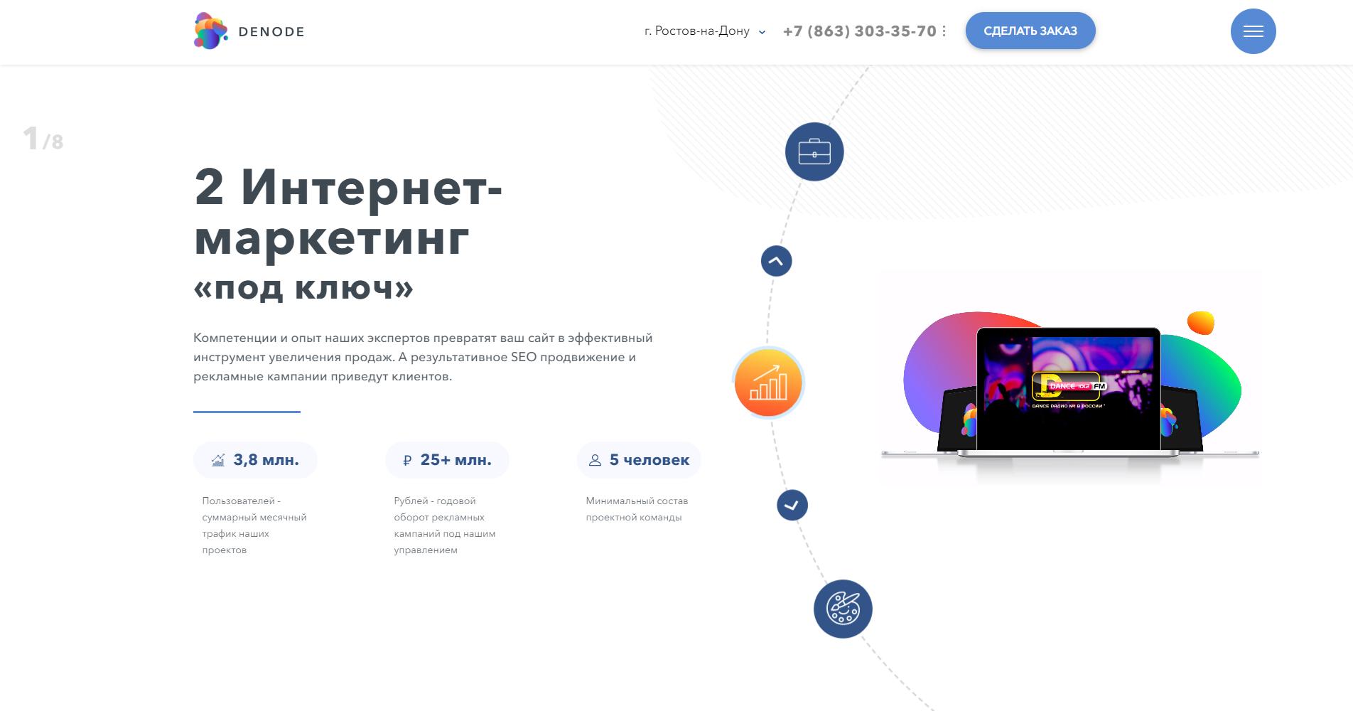 Веб-студия - сайт презентация